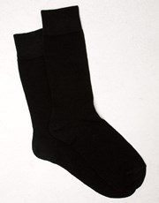 Hallenstein Brothers Wool Blend Socks Black