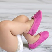 Cheeky Little Soles Baby ballet slippers in pizzaz pink
