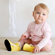 Cheeky Little Soles Baby boots in yellow