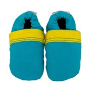 Cheeky Little Soles Boldly blue fabric baby shoes