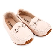 Kidshop Australia Classic leather loafers in cream