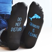 Solesmith Do Not Disturb, Personalised Fishing Socks
