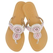 Annie Clare Girls' leather sandals in pink