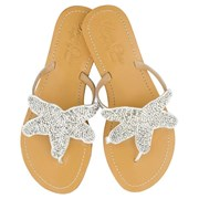 Annie Clare Girls' leather sandals in silver