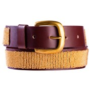 Annie Clare Leather beaded belt in copper