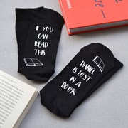 Solesmith Lost in a book personalised socks