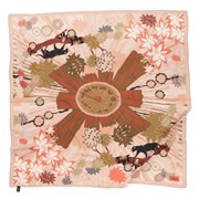 Hokum Scarves Panther peach silk scarf