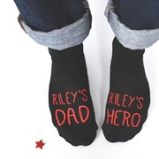 Solesmith Personalised Dad And Hero Socks