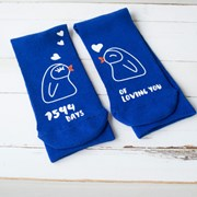 Solesmith Personalised Days Of Loving You Penguin Socks