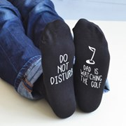 Solesmith Personalised Do Not Disturb Golf Socks