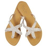 Annie Clare Phoebe leather sandals in silver