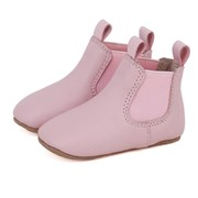 Skeanie Pre-walker leather riding boots in pink