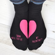 Solesmith Will you be my Valentine Personalised socks?