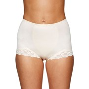 TRIUMPH Cotton lace full brief WHITE