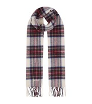 Harrods Fringed Check Wool Scarf multi 6163
