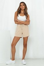 HELLO MOLLY Laidback Lover Shorts Beige