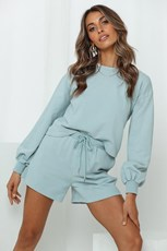 HELLO MOLLY Laidback Lover Shorts Duck Egg Blue