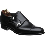 Herring Attlee double monk shoes Black Calf