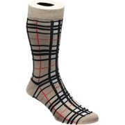Herring Camel Thompson Tartan Sock Beige