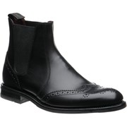 Loake Hoskins rubber-soled brogue boots Black Calf