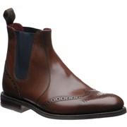 Loake Hoskins rubber-soled brogue boots Dark Brown Calf