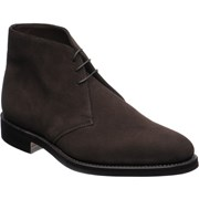 Loake Pimlico rubber-soled Chukka boots Dark Brown Suede