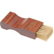 Saphir Pommadier Brush for Jars 9cm Dark Wood Pale Bristle