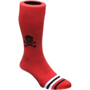 Herring Skull Sock Red Black Skull