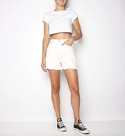 Ziggy Denim Slacker Short - Coconut