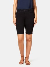 Jeanswest Tully Curve Embracer Knee Length Short Black