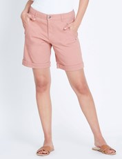 Katies Casual Canvas Short CORAL