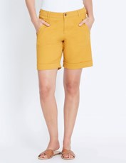 Katies Casual Canvas Short MUSTARD