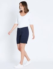 Katies Casual Canvas Short NAVY