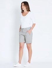 Katies Casual Canvas Short WASHED KHAKI
