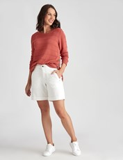 Katies Casual Canvas Short WHITE