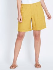 Katies Linen Short MUSTARD