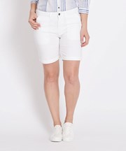Katies Plain Casual Short WHITE