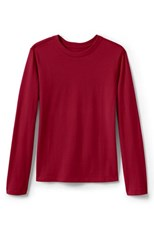 Lands' End Girls Long Sleeve Essential T-shirt Red