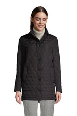 Lands' End Women's Insulated Packable Quilted Barn Coat Black
