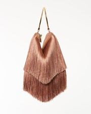 FARRAH AND SLOANE MILA SHORT FRINGE BAG - DARK NUDE