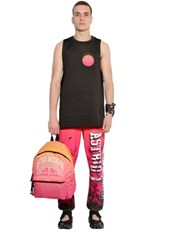 ASTRID ANDERSEN Oversized Neoprene Basketball Tank Top BLACK