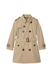BURBERRY Cotton Gabardine Trench Coat BEIGE