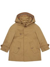 BURBERRY Hooded Cotton Trench Coat BEIGE