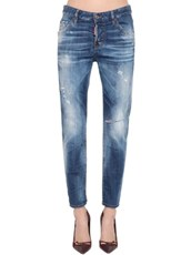DSQUARED2 Cool Girl Straight Denim Jeans BLUE