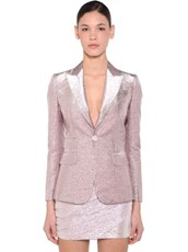 DSQUARED2 Lame Single Breast Blazer PINK