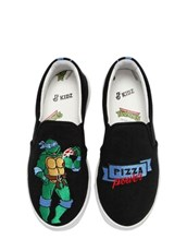 JOSHUA SANDERS Leonardo Ninja Turtle Slip-on Sneakers BLACK