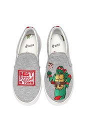 JOSHUA SANDERS Raphael Ninja Turtle Slip-on Sneakers GREY