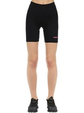 TRES RASCHE Rasche Cotton Blend Bike Shorts BLACK