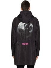 VALENTINO Moon Dust Nylon Caban Parka Black