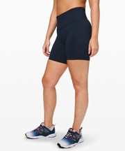 "Lululemon Fast and Free High-Rise Short 6"" True Navy"